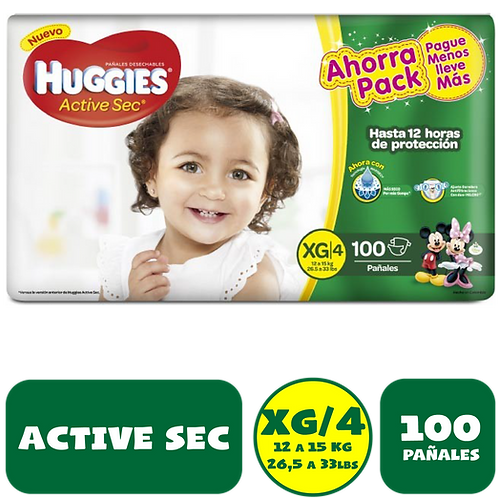 HUGGIES EXTRGRANDE X 100