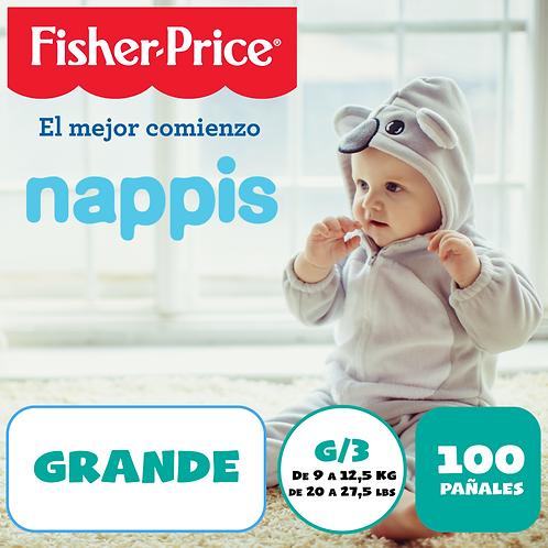 NAPPIS FISHER PRICE G X 100