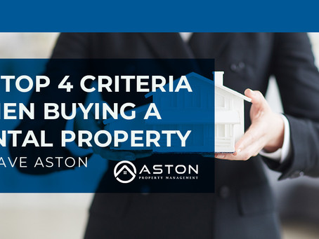 My top 4 criteria when buying a rental property