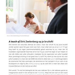 Dirk Zeelenberg | Van Divorce acteur tot zelfstandig trouwambtenaar!