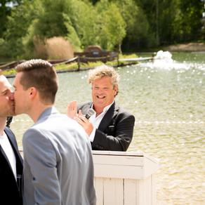 Het huwelijk van de winnaars van de #windirk actie; Teun en Boet!