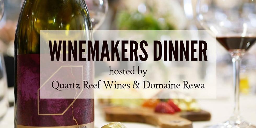 Winemakers Dinner with Quartz Reef Wines & Domaine Rewa Wines   Wed 6 Oct
