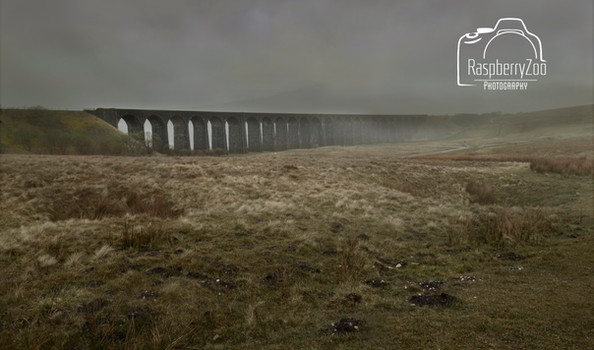 Ribblehead Viaduct on a misty day
