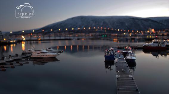 Tromso Harbour at Twilight