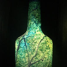 Trees bottle lamp