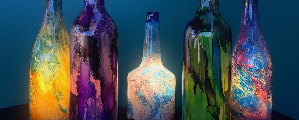 Table bottle lamps