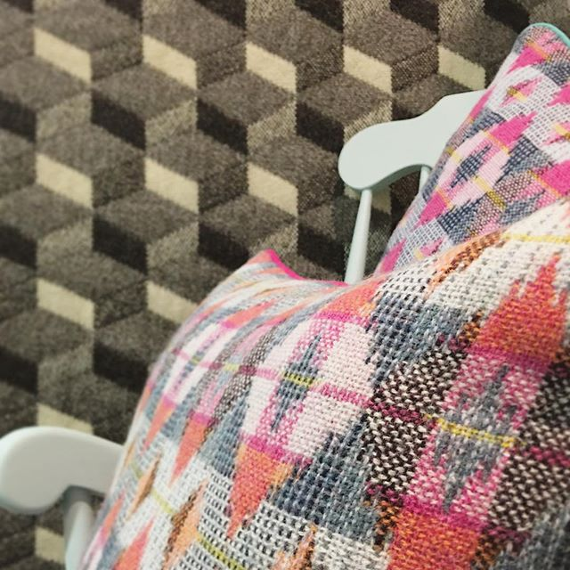 Gorgeous double cloth textiles from One Year On neighbour, hand weaver Rowenna Mason