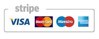 Visa, Mastercard, Maestro and American express logos