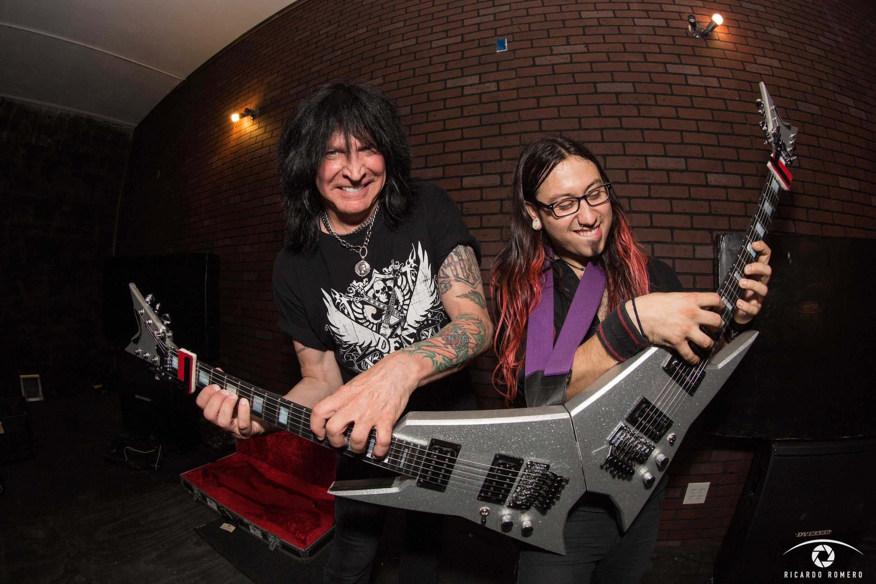 Gabriel and MAB with double guitar