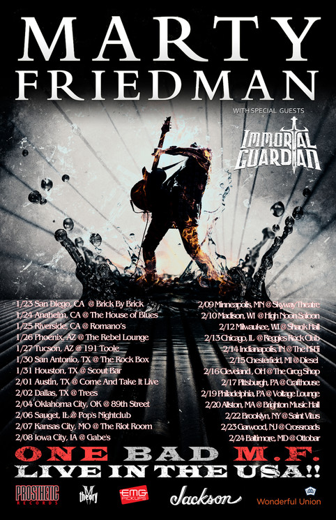 VIDEO - Gabriel Guardian warms up for Marty Friedman tour with a Cacophony classic…