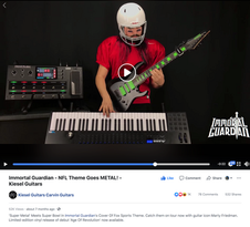 Kiesel Guitars shares our NFL Goes Metal VIDEO!!!