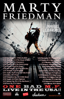 MARTY FRIEDMAN + IMMORTAL GUARDIAN Tour Announced!