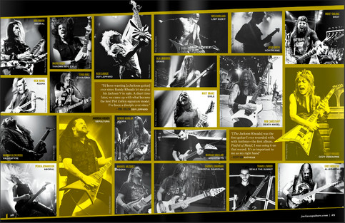 Catch me in the NEW Jackson Guitar catalog!