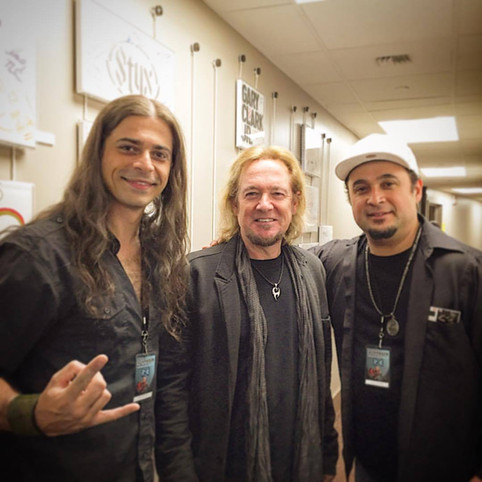 Carlos Zema Backstage with Iron Maiden!