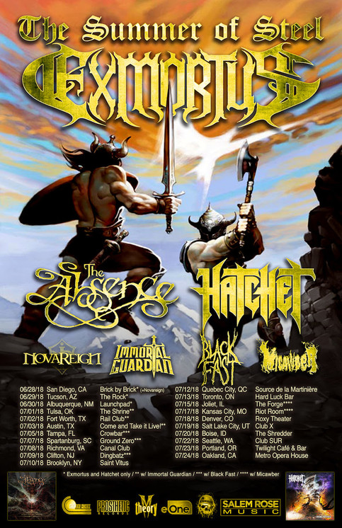 On the Road with Exmortus & Hatchet!