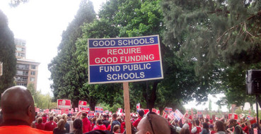Save Our Schols rally