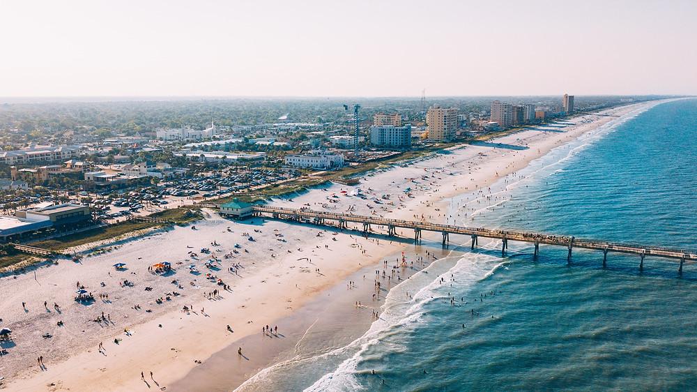 aerial view of Jacksonville beach florida