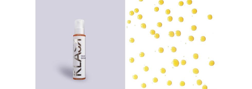 L'huile double KLASK tonifiante grâce à l huile essentielle de géranium elle aide à lutter contre la cellulite.