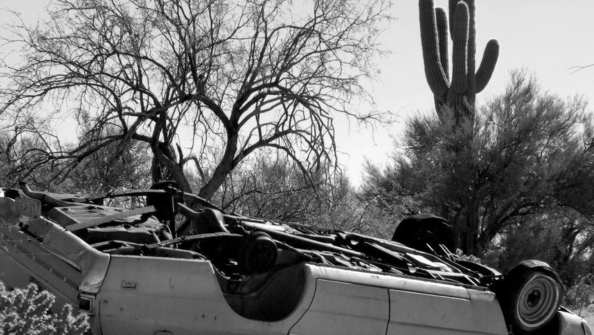 Upside-down Car