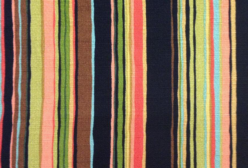 Vibrant Multicolored Stripe Fabric