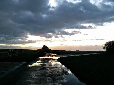 Immersed in the landscape on Lindisfarne