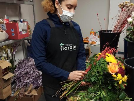 Interview de Coralie, apprenante en formation fleuriste à L'Ecole Florale