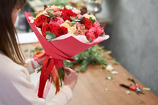 LECOLE FLORALE_Composition bouquet_Rouge