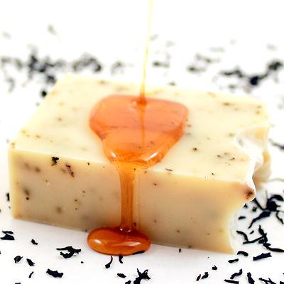 Cream color bar of handmade soap