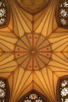 Geometric abstract church roof