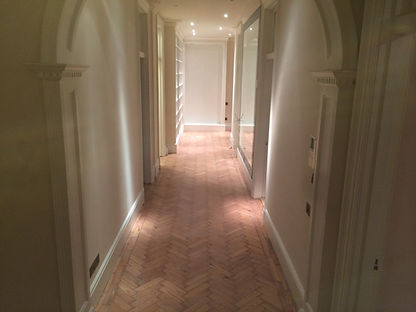 Parquet lime wash in Wanstead