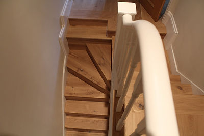 Quality Oak solid wood fitting on stairs