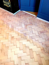 White oiling parquet floors in Buckhurst