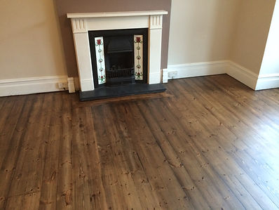 Antique pine flooring Leytonstone