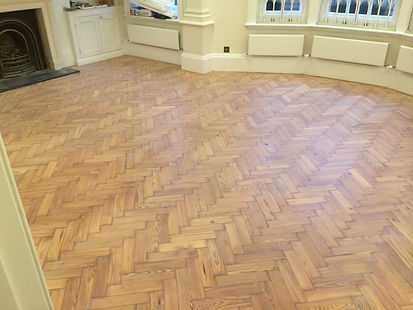 Parquet fitting and sanding in Wanstead
