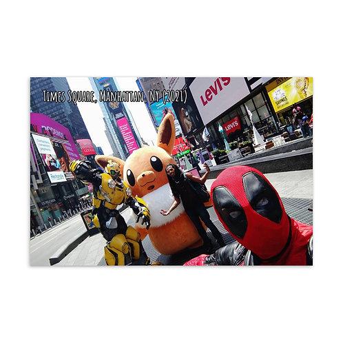 Azazus in Times Sq. Manhattan NY 2021 Postcard 1