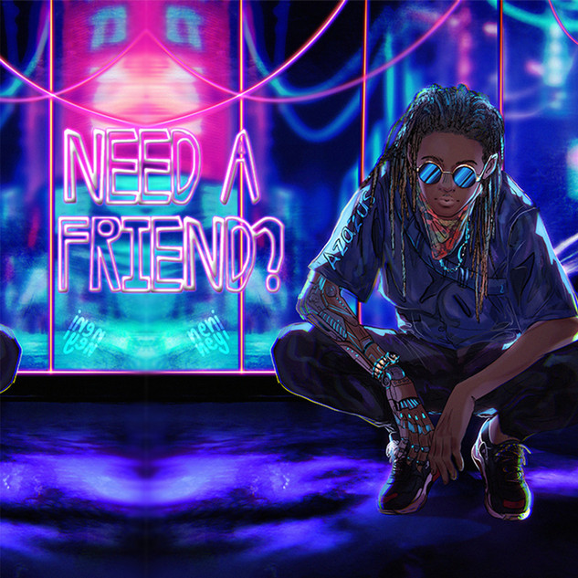 Azazus new need a friend cover art 2020.