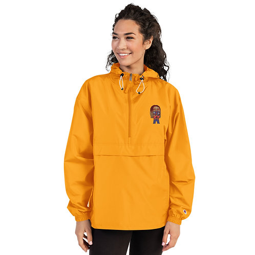 Embroidered Chibi Azazus Champion Packable Jacket