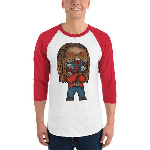 3/4 sleeve Chibi Azazus raglan shirt