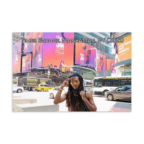 Azazus in Times Square, Manhattan, NY 2021 Postcard 2