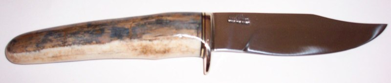 Fossilized walrus ivory handle