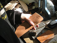 Dawn Campbell creating an IRBI Sheath