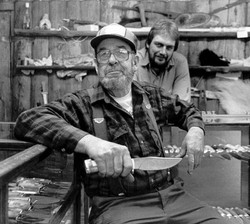 Irvin Campbell & his youngest son, Virgil. Photo by L. Beam 1989