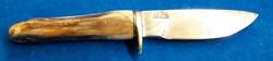 Fossilized walrus ivory handle