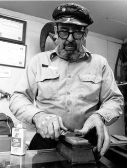Photo by Schultz 1981 9 - sharpening