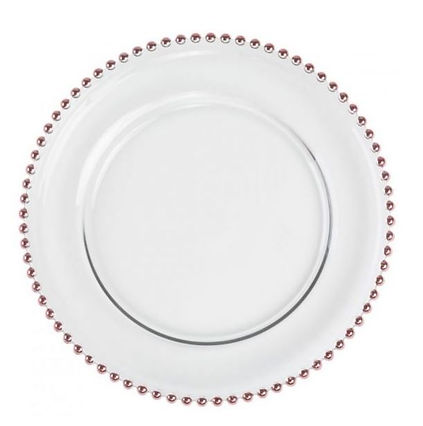 Rose Gold Beaded Plate Charger.JPG