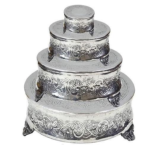 Trio Cake Stand Round Silver.JPG