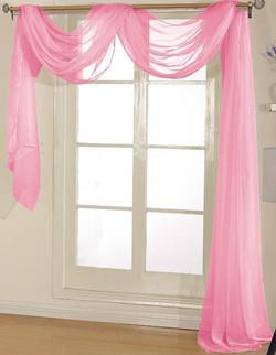 Light Pink Sheer Valance - 54X216