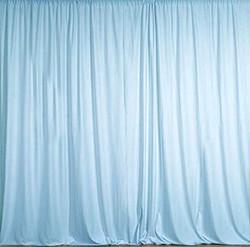 Polyester Light Blue Drapes
