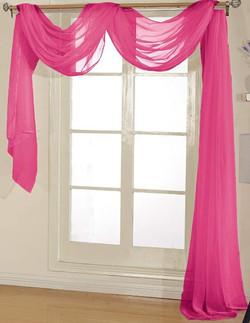 Hot Pink Sheer Valance - 54X216