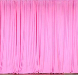 Polyester Hot Pink Drapes